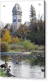 Assiniboine Park Pavilion Acrylic Print by Mary Mikawoz