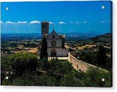 Assisi-basilica Di San Francesco Acrylic Print
