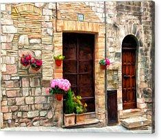 Assisi Doorways Acrylic Print