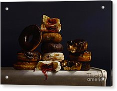 Assorted Donuts Acrylic Print by Larry Preston