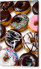 Assorted Doughnuts Picture Acrylic Print by Paul Velgos