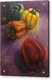 Assorted Peppers Acrylic Print by Tom Forgione