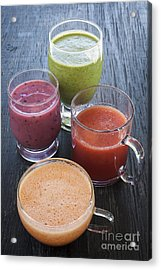 Assorted Smoothies Acrylic Print by Elena Elisseeva