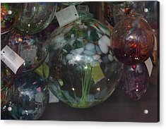 Assorted Witching Balls Acrylic Print by Suzanne Gaff