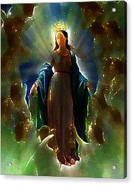 Assumption Of Mother Mary Acrylic Print by Mario Carini