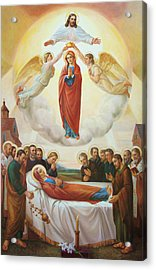 Assumption Of The Blessed Virgin Mary Into Heaven Acrylic Print by Svitozar Nenyuk