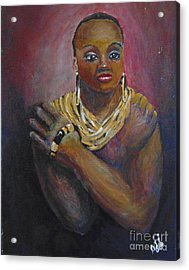 Acrylic Print featuring the painting Assured by Saundra Johnson