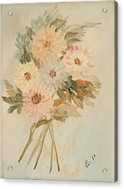 Aster Bouquet Acrylic Print by Betty Stevens
