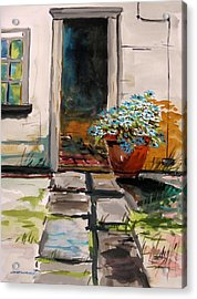 Aster By The Door Acrylic Print