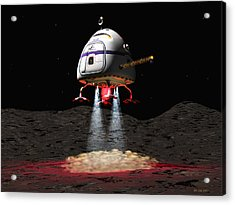Asteroid Miners Mule Acrylic Print by Jim Coe