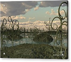 Asteroxylon Was A Primitive Plant That Acrylic Print by Walter Myers