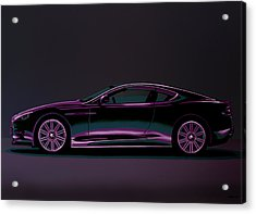 Aston Martin Dbs V12 2007 Painting Acrylic Print by Paul Meijering