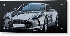 Acrylic Print featuring the painting Aston Martin One-77 by Richard Le Page
