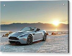 Aston Martin V12 Vantage S Roadster Acrylic Print by Drew Phillips