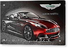 Aston Martin Vanquish Volante  Acrylic Print by Serge Averbukh