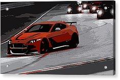 Aston Martin Vantage Gt12 Acrylic Print by Andrea Mazzocchetti