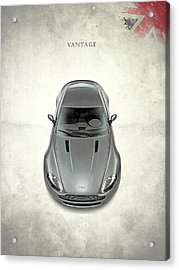 Aston Martin Vantage Acrylic Print by Mark Rogan