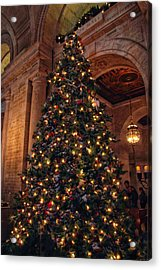 Acrylic Print featuring the photograph Astor Hall Christmas by Jessica Jenney