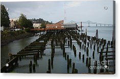 Astoria Bridge And Waterfront Acrylic Print by Beverly Guilliams