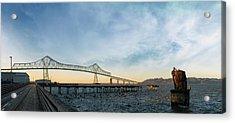 Astoria Megler Bridge By Riverwalk Panorama Acrylic Print