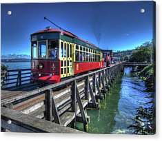 Astoria Riverfront Trolley Acrylic Print