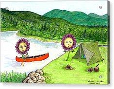 Astors Camping Acrylic Print by Kathleen Walker