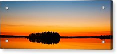 Astotin Sunset Acrylic Print by Ian MacDonald