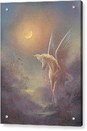 Astral Pegasus Acrylic Print by Jack Shalatain