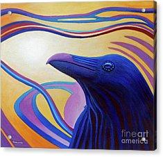 Astral Raven Acrylic Print