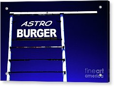 Acrylic Print featuring the photograph Astro Burger by Jim and Emily Bush