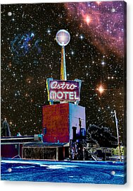 Acrylic Print featuring the photograph Astro Motel by Jim and Emily Bush