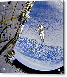 Astronaut In Atmosphere Acrylic Print