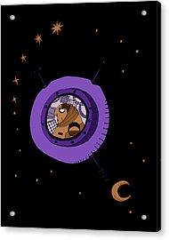 Astronaut In Deep Space Acrylic Print
