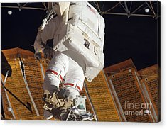 Astronaut Installs Stabilizers Acrylic Print by Stocktrek Images