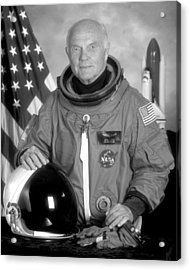 Astronaut John Glenn Acrylic Print by War Is Hell Store