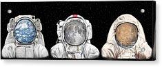 Astronaut Triptych Acrylic Print by Tharsis Artworks