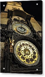 Astronomical Clock Acrylic Print by Heidi Pix