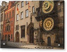 Astronomical Clock In Old Prague Acrylic Print
