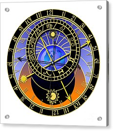 Astronomical Clock Acrylic Print by Michal Boubin