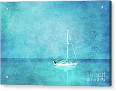 Acrylic Print featuring the mixed media At Anchor by Betty LaRue