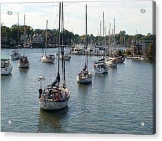 Acrylic Print featuring the photograph At Anchor by Charles Kraus