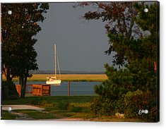 Acrylic Print featuring the photograph At Anchor by Phil Mancuso