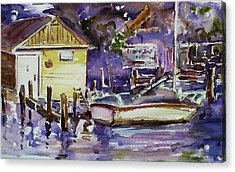 At Boat House 3 Acrylic Print by Xueling Zou
