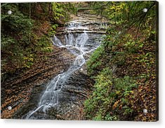 Acrylic Print featuring the photograph At Bridal Veil Falls by Dale Kincaid