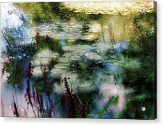 At Claude Monet's Water Garden 2 Acrylic Print