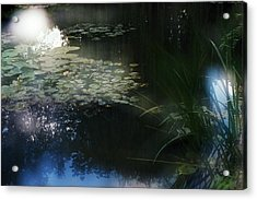 Acrylic Print featuring the photograph At Claude Monet's Water Garden 3 by Dubi Roman