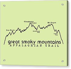 At Elevation Profile Gsm Acrylic Print by Heather Applegate