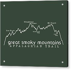 At Elevation Profile Gsm White Acrylic Print by Heather Applegate