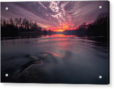 Acrylic Print featuring the photograph At End Of The Day by Davorin Mance