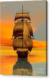 At Full Sail Acrylic Print